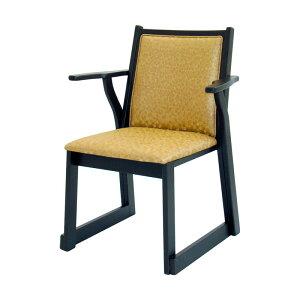 両肘付きレザー椅子 AR-602 (座高42cm) 木製 ( 本堂用椅子 寺院用椅子 寺用 本堂椅子 肘かけ スツール イス 仏壇用 和室 お座敷椅子 寺院仏具 送料無料 )