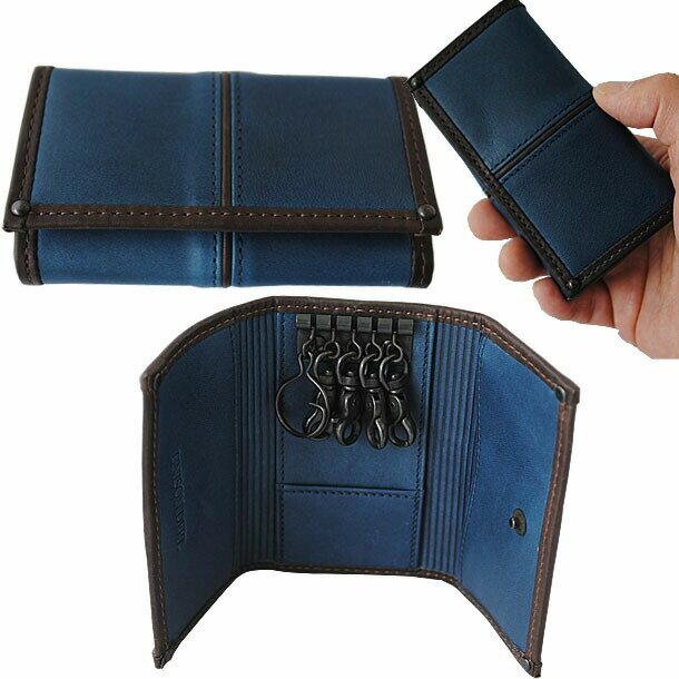キーケース 本革 メンズ スマートキー ユニゾンデプト UNISON DEPT. AI(藍) 藍染 牛革 ヌメ革 革 レザー 5連キーホルダー キイケース 鍵入れ ジャパンブルー 12-9908 男性 メンズ 誕生日 バースデーあす楽 父の日 ギフト 送料無料 楽天 通販