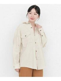 [Rakuten Fashion]KBF+コーデュロイBIGシャツ KBF ケービーエフ シャツ/ブラウス シャツ/ブラウスその他 ホワイト ブルー ブラウン【送料無料】