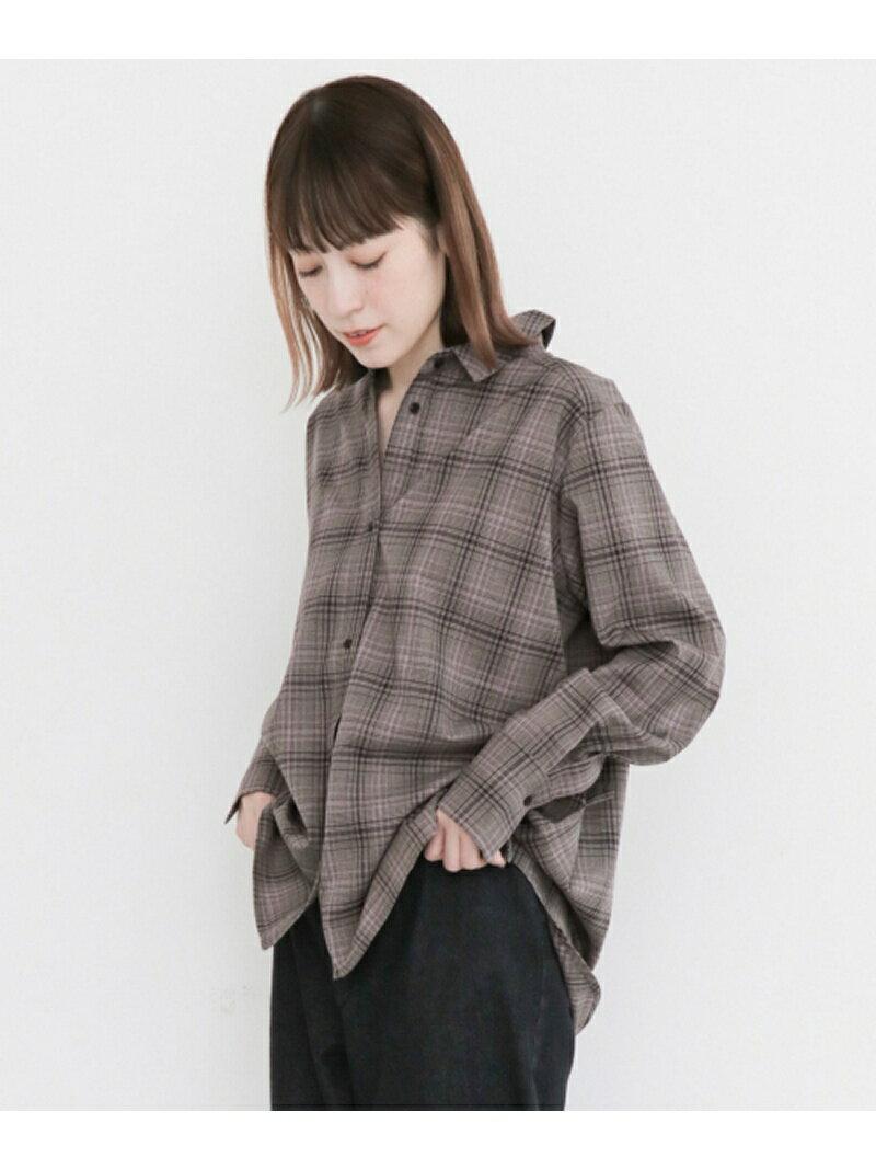 [Rakuten BRAND AVENUE]2way変型チェックシャツ KBF ケービーエフ シャツ/ブラウス【送料無料】
