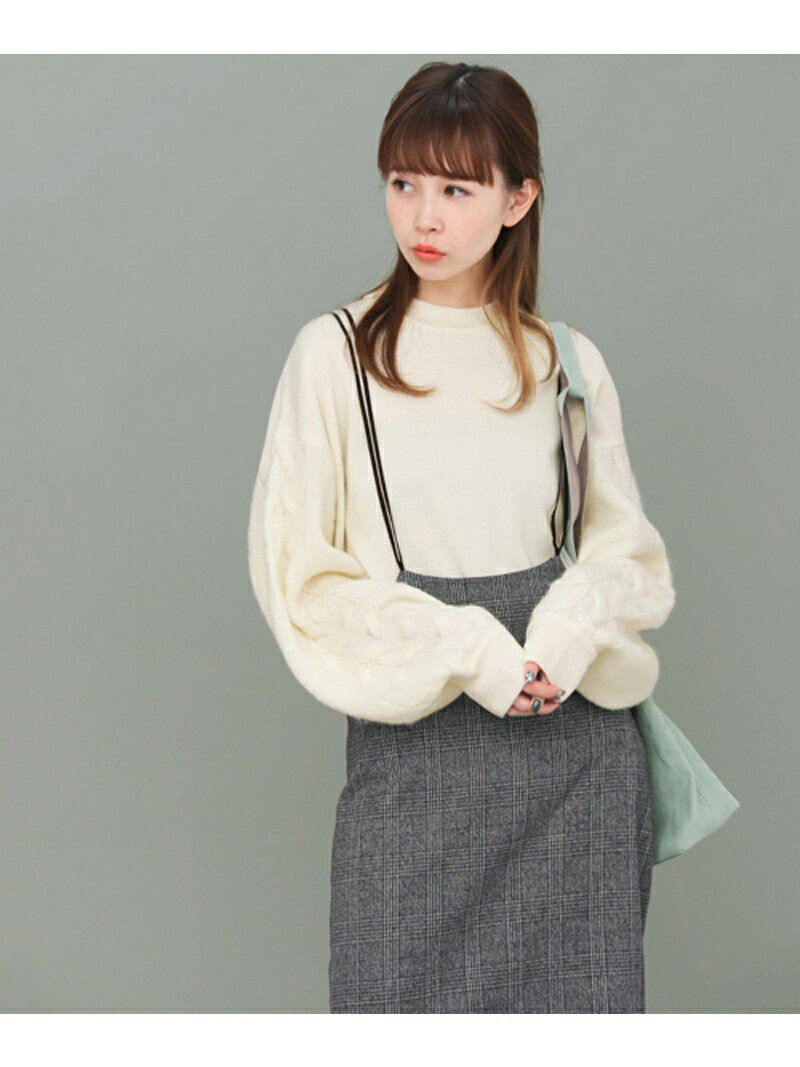 KBF モヘヤケーブルスリーブニット ケービーエフ【送料無料】