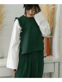[Rakuten Fashion]【SALE/60%OFF】WEB限定フリルトップス KBF ケービーエフ シャツ/ブラウス シャツ/ブラウスその他 グリーン グレー ブラック【RBA_E】