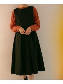 [Rakuten Fashion]BIGプリーツジャンパースカート KBF ケービーエフ ワンピース ワンピースその他 ブラック ブラウン【送料無料】