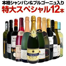 【送料無料】第17弾!本格シャンパン&ブルゴーニュ入り!特大スペシャル12本セット! ワイン ワインセット セット 赤ワインセット 赤ワイン 白ワインセット 白ワイン スパークリングワインセット 飲み比べ ギフト プレゼント 辛口 750ml