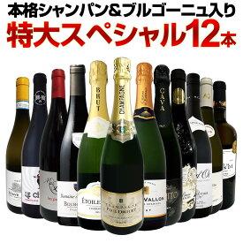 【送料無料】第19弾!本格シャンパン&ブルゴーニュ入り!特大スペシャル12本セット! ワイン ワインセット セット 赤ワインセット 赤ワイン 白ワインセット 白ワイン スパークリングワインセット 飲み比べ ギフト プレゼント 辛口 750ml