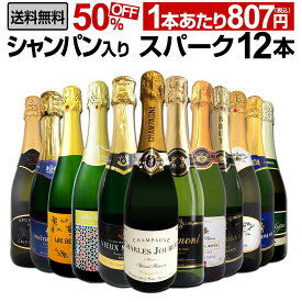 【送料無料】第19弾シャンパン入り!辛口スパークリングワイン12本セット!