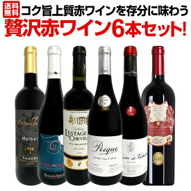 【送料無料】第4弾!当店≪極≫厳選!赤ワイン好きならこのセット!格別の美味しさ!コク旨上質赤ワインを存分に味わう贅沢赤ワイン6本セット!