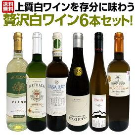 【送料無料】第4弾!当店≪極≫厳選!白ワイン好きならこのセット!格別の美味しさ!華やかな上質白ワインを存分に味わう贅沢白ワイン6本セット!