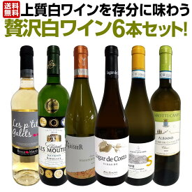 【送料無料】第8弾!当店≪極≫厳選!白ワイン好きならこのセット!格別の美味しさ!華やかな上質白ワインを存分に味わう贅沢白ワイン6本セット!