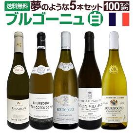 【送料無料★100セット限り】厳選ブルゴーニュ白ワイン5本セット!!