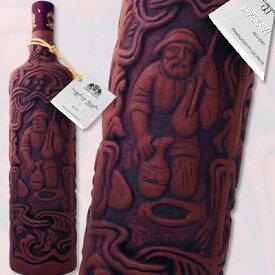 キンズマラウリ・サペラヴィクヴェヴリ(陶器ボトル)【ワイン発祥の地、ジョージアの希少な陶器ボトル!!】【赤ワイン】【750ml】【ミディアムボディ】【やや辛口】