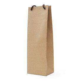 ワイン用 ギフトボックス 手提げ袋(1本用)【茶】【1本用ギフトボックスが入ります】