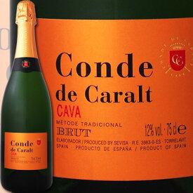 コンテ・デ・カラル・カバ・ブリュット【スペイン】【白スパークリングワイン】【750ml】【カヴァ】【辛口】【金賞】