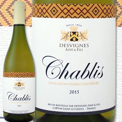 デヴィーニュ・エーネ・エ・フィス・シャブリ 2015【フランス】【白ワイン】【辛口】【Chablis】