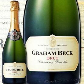 スパークリングワイン 白 グラハム・ベック・ブリュット・NV【南アフリカ共和国】【白スパークリングワイン】【750ml】【辛口】【Graham Beck】