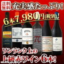 【送料無料】ワンランク上の極旨ばかり★充実感たっぷりの上級赤ワイン6本セット