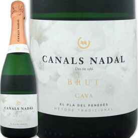 カナルス・ナダル・カバ・ブリュット【スペイン】【白スパークリングワイン】【750ml】【ミディアムボディ寄りのライトボディ】【辛口】【カタルーニャ】【ペネデス】【瓶内二次発酵】【カヴァ】