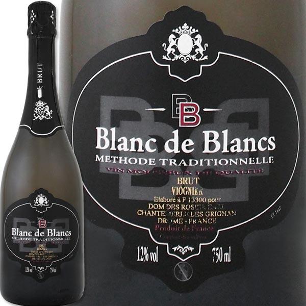 [クーポンで最大2,000円OFF]ドメーヌ・デ・ロジエ・ブラン・ド・ブラン・ヴィオニエ・ブリュット・メトード・トラディショナルフランス 白スパークリングワイン 750ml 辛口 ワイン王国 ヴィオニエ