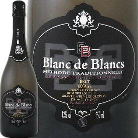スパークリングワイン 白 ドメーヌ・デ・ロジエ・ブラン・ド・ブラン・ヴィオニエ・ブリュット・メトード・トラディショナルフランス 白スパークリングワイン 750ml 辛口 ワイン王国 ヴィオニエ