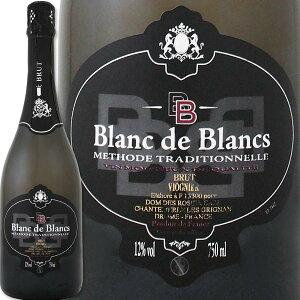 スパークリングワイン 白 ドメーヌ・デ・ロジエ・ブラン・ド・ブラン・ヴィオニエ・ブリュット・メトード・トラディショナルフランス 白スパークリングワイン 750ml 辛口 ワイン王国 ヴィ