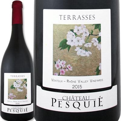 [クーポンで最大2,000円OFF]シャトー・ペスキエ・キュヴェ・レ・テラス 2015【フランス】【赤ワイン】【750ml】【フルボディ】【辛口】【パーカー】【Chateau Pesquie Cuvee des Terrasses】