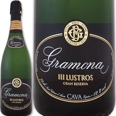 グラモナ・トレス・ルストロス・カバ・ブリュット・ナチュール・グラン・レセルバ 2011【スペイン】【白スパークリングワイン】【750ml】【ミディアムボディ寄りのフルボディ】【辛口】【高級カバ】【カバ・デ・パラヘ・カリフィカード】