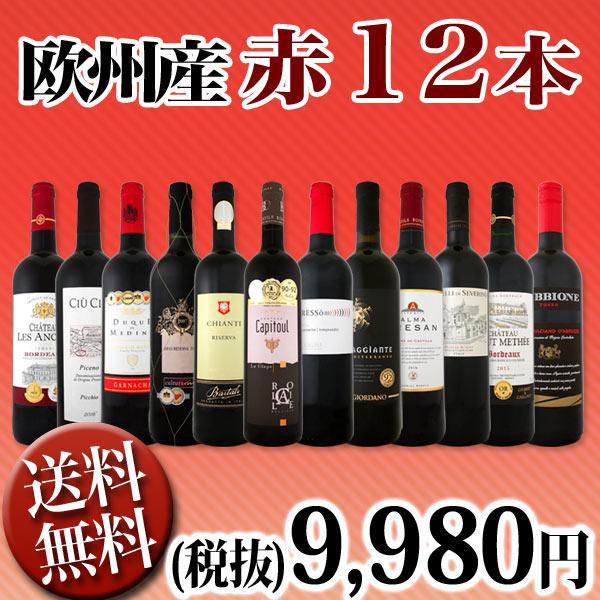 【送料無料】第76弾!超特大感謝!≪スタッフ厳選≫の激得赤ワイン12本9,980円(税別)セット!