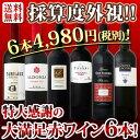【送料無料】第81弾!採算度外視の謝恩企画!京橋ワイン厳選!特大感謝の大満足赤ワイン6本セット!! 還暦祝い ワイ…