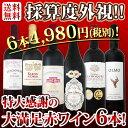 【送料無料】第91弾!採算度外視の謝恩企画!京橋ワイン厳選!特大感謝の大満足赤ワイン6本セット!!|還暦祝い ワイ…