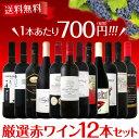 【送料無料】1本あたり700円(税別)!!採算度外視の大感謝!厳選赤ワイン12本セット