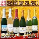 【送料無料】第96弾!ベスト・オブ・スパーク!京橋ワイン厳選!高級クレマンも入った極旨泡ばかりの辛口スパークリングワイン6本セッ…