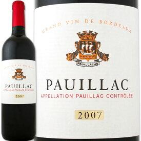 メゾン・シシェル・ポイヤック 2007【フランス】【赤ワイン】【750ml】【ミディアムボディ寄りのフルボディ】【辛口】