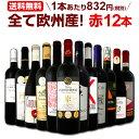 [クーポンで10%OFF]ワイン 【送料無料】第107弾!超特大感謝!≪スタッフ厳選≫の激得赤ワインセット 12本!