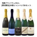 [クーポンで10%OFF]【送料無料】全てシャンパン!しかもグランクリュ2本入!数量限定シャンパンセット(スパークリングワインセット) 5本!