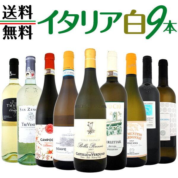 【送料無料】≪バラエティ豊かな個性を満喫!!≫特大感謝の激旨イタリア白ワインセット 9本!