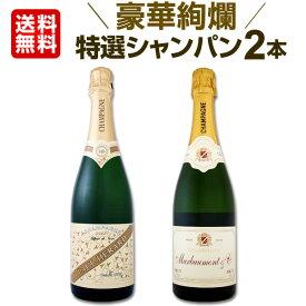 シャンパン 【送料無料】第23弾!豪華絢爛!ご愛顧に大感謝!数量限定!特選シャンパンセット(スパークリングワインセット) 2本!