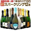 【送料無料】端数在庫一掃!スパークリングワイン12本セット!
