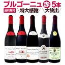 【送料無料】特大感謝のブルゴーニュ赤ワイン大放出5本セット!!