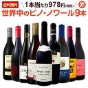 [クーポンで10%OFF]【送料無料】ピノ・ノワール三昧9本セット!世界中のピノ・ノワール赤ワインだけをセレクト!