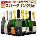 [クーポンで15%OFF]【送料無料】端数在庫一掃!スパークリングワイン9本セット!