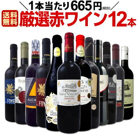 [クーポンで7%OFF]【送料無料】1本あたり665円(税別)!!採算度外視の大感謝!厳選赤ワイン12本セット