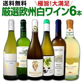 [クーポンで7%OFF]ワイン 【送料無料】第118弾!当店厳選!これぞ極旨辛口白ワイン!『白ワインを存分に楽しむ!』味わい深いスーパー・セレクト白6本セット