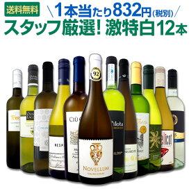 [クーポンで7%OFF]白ワイン セット 【送料無料】第100弾!超特大感謝!≪スタッフ厳選≫の激得白ワインセット 12本!
