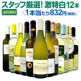 [クーポンで7%OFF]白ワイン セット 【送料無料】第112弾!超特大感謝!≪スタッフ厳選≫の激得白ワインセット 12本!