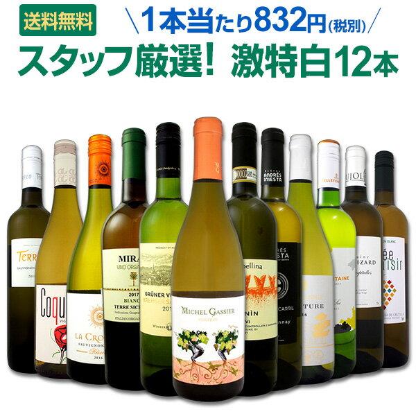 白ワイン セット 【送料無料】第96弾!超特大感謝!≪スタッフ厳選≫の激得白ワインセット 12本!