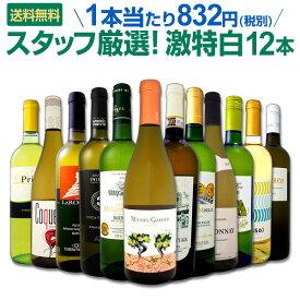 [クーポンで7%OFF]白ワイン セット 【送料無料】第97弾!超特大感謝!≪スタッフ厳選≫の激得白ワインセット 12本!