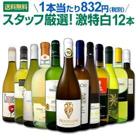 [クーポンで10%OFF]白ワイン セット 【送料無料】第99弾!超特大感謝!≪スタッフ厳選≫の激得白ワインセット 12本!