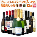 【送料無料】泡、赤、白!ちょっといいワインも入ってます!毎日楽しめる厳選ワイン12本セット!ワイン ワインセット セット 赤ワインセット 赤ワイン 赤 白ワインセット 白ワイン 白 スパークリングワイ