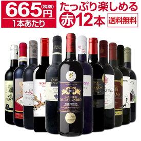 【送料無料】第5弾!1本あたり665円(税別)!!採算度外視の大感謝!厳選赤ワイン12本セットワイン ワインセット セット 赤ワインセット 赤ワイン 赤 飲み比べ ギフト プレゼント 750ml 父の日