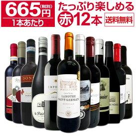 【送料無料】第9弾!1本あたり665円(税別)!!採算度外視の大感謝!厳選赤ワイン12本セットワイン ワインセット セット 赤ワインセット 赤ワイン 赤 飲み比べ ギフト プレゼント 750ml